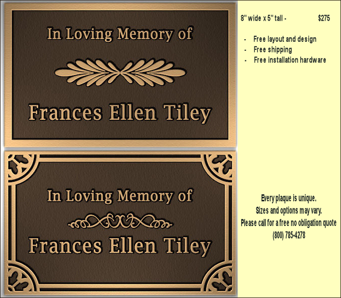 metal bronze plaques for memorials military and veteran plaques emblems signs. Black Bedroom Furniture Sets. Home Design Ideas