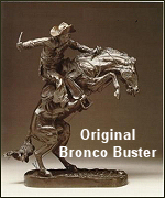 Picture of an origial Frederic Remington Bronco Buster