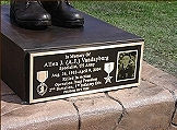 Bronze plaques and signs for memorials and veterans