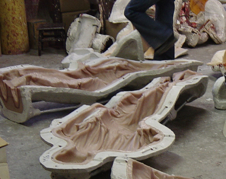 Rubber Molds Delivered To The Bronze Foundry