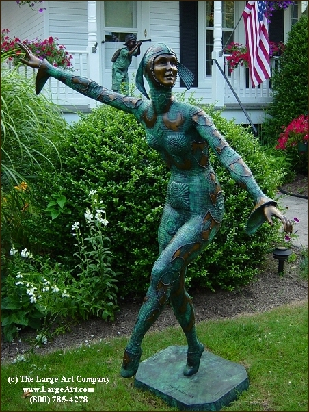 The Large Art Company Landscaping with Bronze Sculptures and