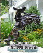 Click here to see a quality reproduction of Frederic Remington Bronco Buster from The Large Art Company