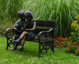 bronze Children statues and children sculptures.  Great for garden statues and garden sculptures