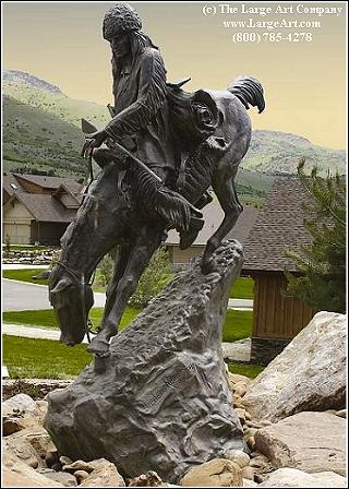 frederic remington statue of mountain man life size life size