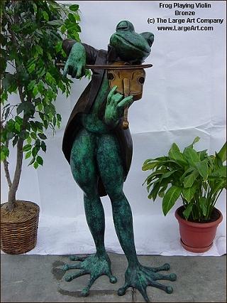 Frog Violinist Garden Statues Garden Sculptures Life Size