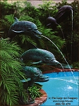 Dolphin Fountain Statue