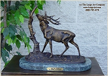 Elk bronze sculpture