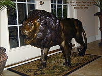 Lion standing statue