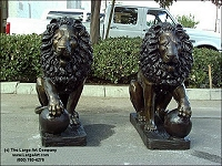 Lion entrance statues